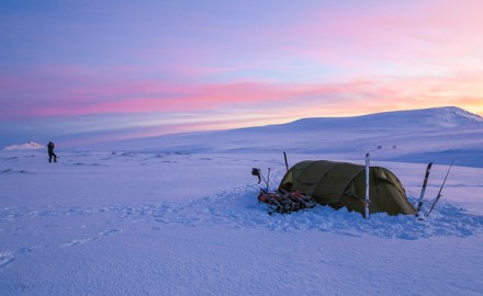 Introduction to expedition skiing and camping in the arctic. 5 days