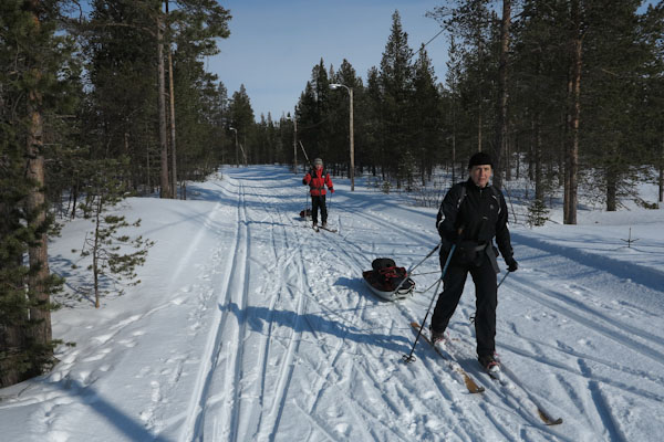 x-country skiing