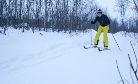 Learn cross country skiing