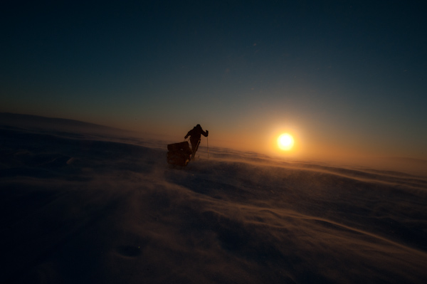 Ski expedition Finnmark plateau northern norway